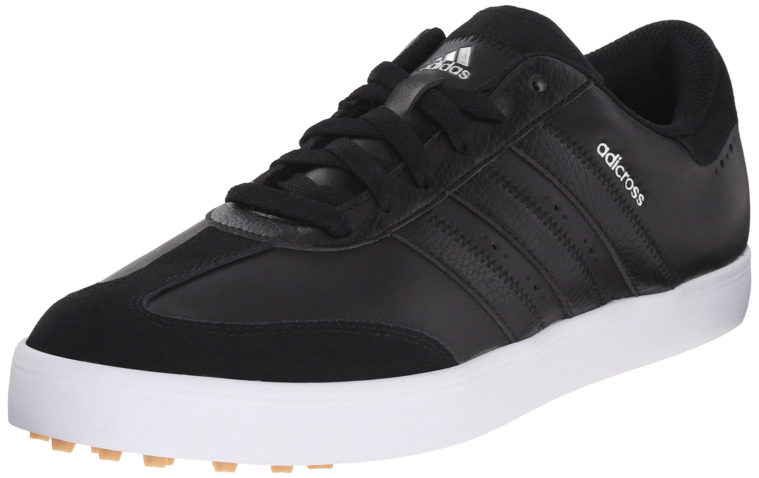 adidas Men's Adicross V Golf Shoe, Black/White, 9.5 M US
