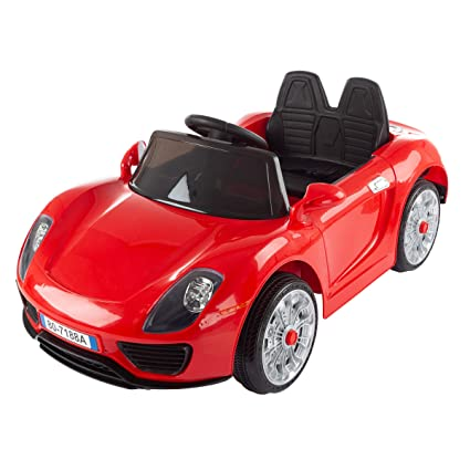Amazon com: L R Battery Powered Ride on Sports Car with Remote, MP3