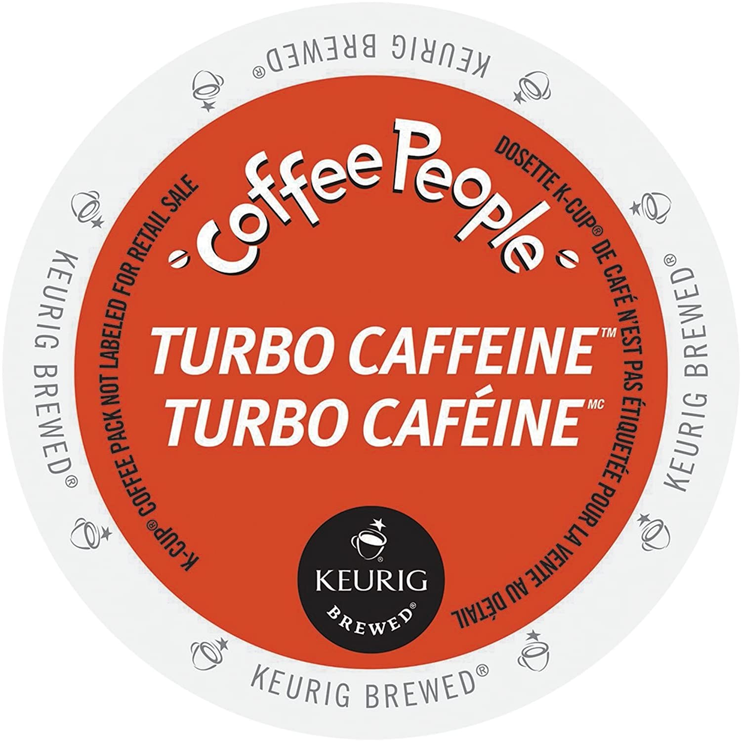 Turbo Caffeine K-cups for Keurig by Coffee people, 96 Count