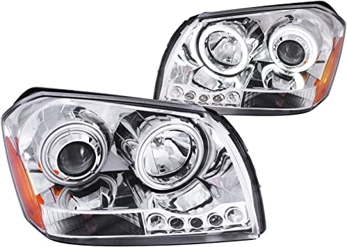 FOR 2005-2007 DODGE MAGNUM New Replacement Chrome Headlight Assembly PAIR