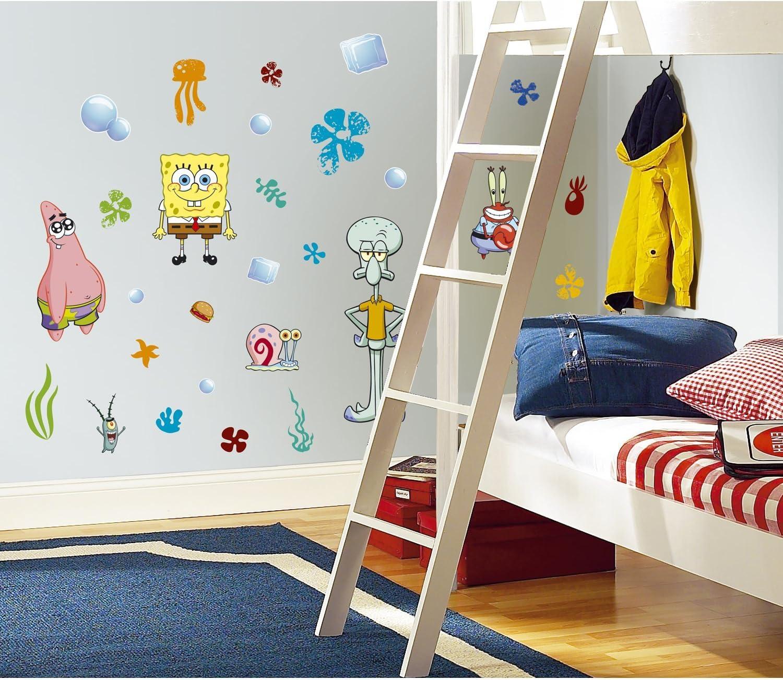 5 New SPONGEBOB SQUAREPANTS WALL DECALS Kids Bedroom Stickers Room  Decorations