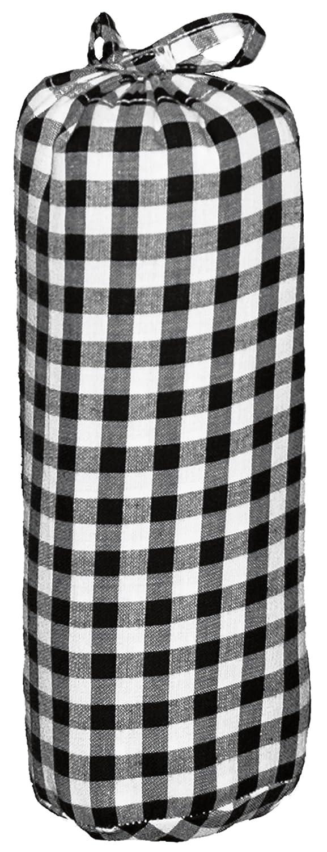 Taftan Drap Housse Gros carreaux noir (60 x 120 cm) - Noir HS-2113