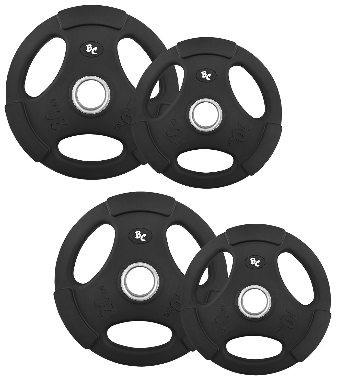 Oly. Gummi-Gripper 60,0Kg (2x10, 2x20) Hantelscheiben Hantel Gewichte 50/51mm