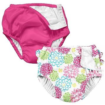 Amazon I Play 2 Pack Girls Reusable Baby Swim Diapers