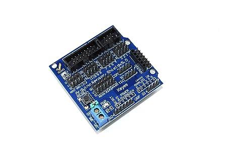 Keyes arduino uno i o sensor shield eb v lcd iic blau sd urf