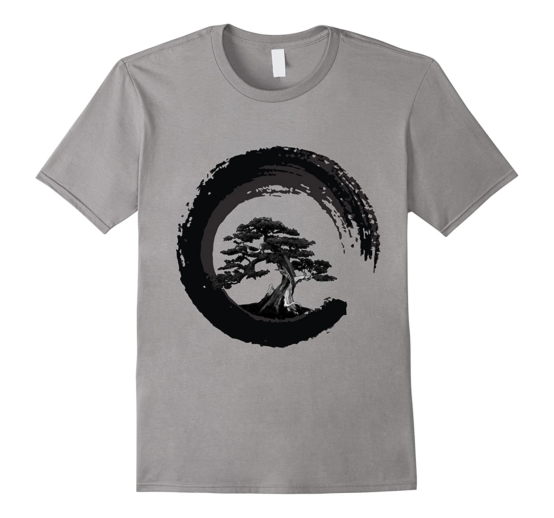 Bonsai Tree Japanese Calligraphy Circle | Buddhist Zen Shirt-BN