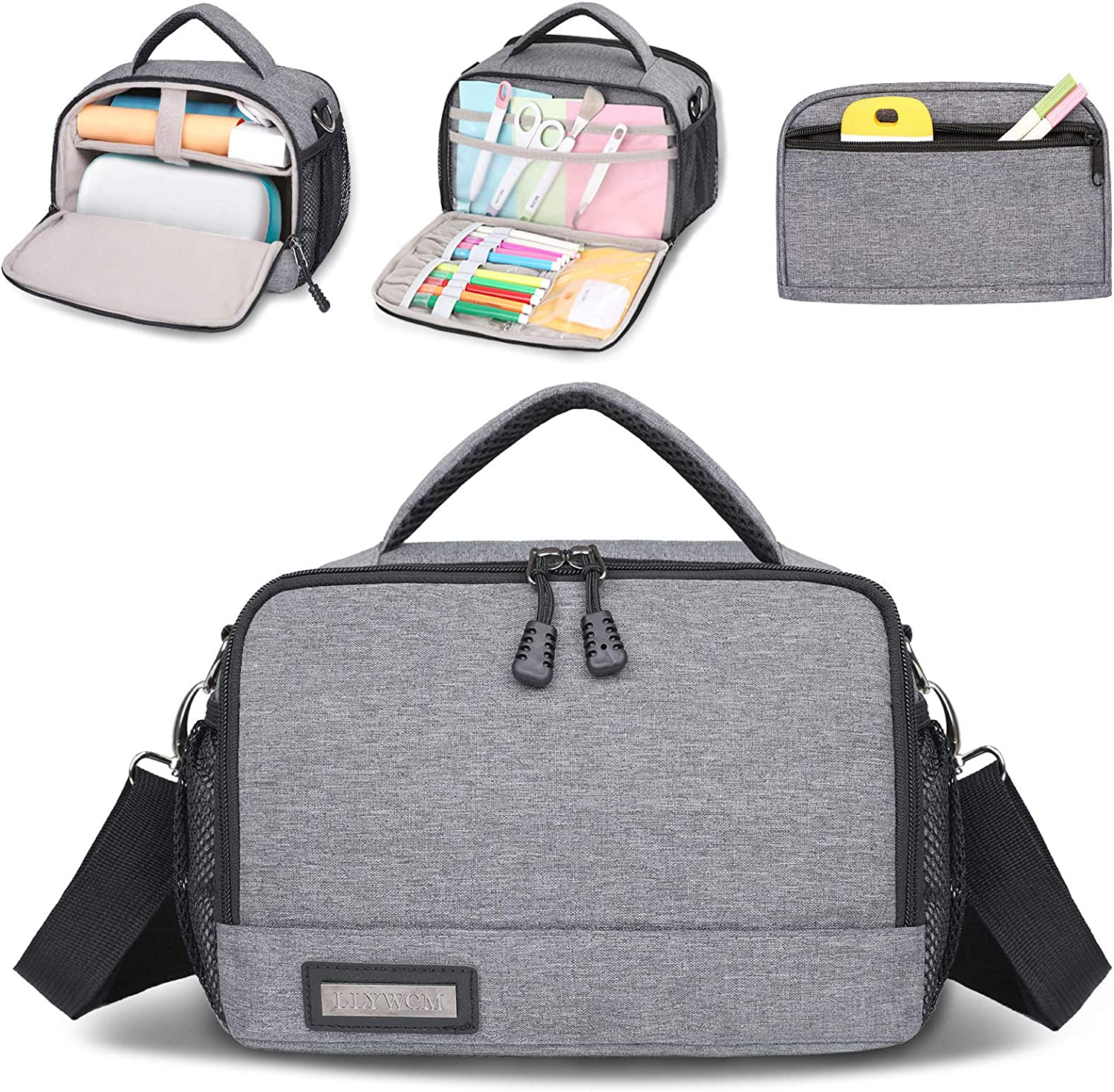 Bag for Cricut Joy and Tool Set with Accessories Storage Section Portable Carrying Case for Cricut Joy Large Capacity Storage Bag Pouch for Cricut Joy