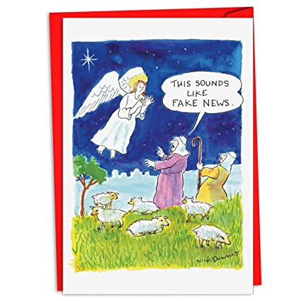 Angels Christmas Cards.12 Fake News Angel Boxed Christmas Hilarious Greeting Cards 4 63 X 6 75 Inch Merry Xmas Cards W Envelopes For Holidays And Gifts Stationery Set