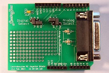 Amazon com: Arduino Joystick Shield for DB15 Game Port PC Joysticks