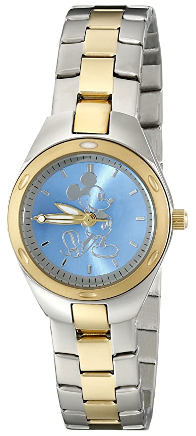 Disney Women's W001907 Mickey Mouse Two-Tone Stainless Steel Watch