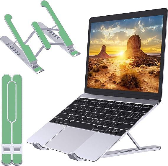 """Compatibile con MacBook Air 10-15.6/"""" Babacom Supporto PC Portatile PRO ABS+Silicone+Alluminio Portatile Ventilato Desktop Porta PC 6 Livelli Regolabile Ergonomico Raffreddamento Laptop Stand"""