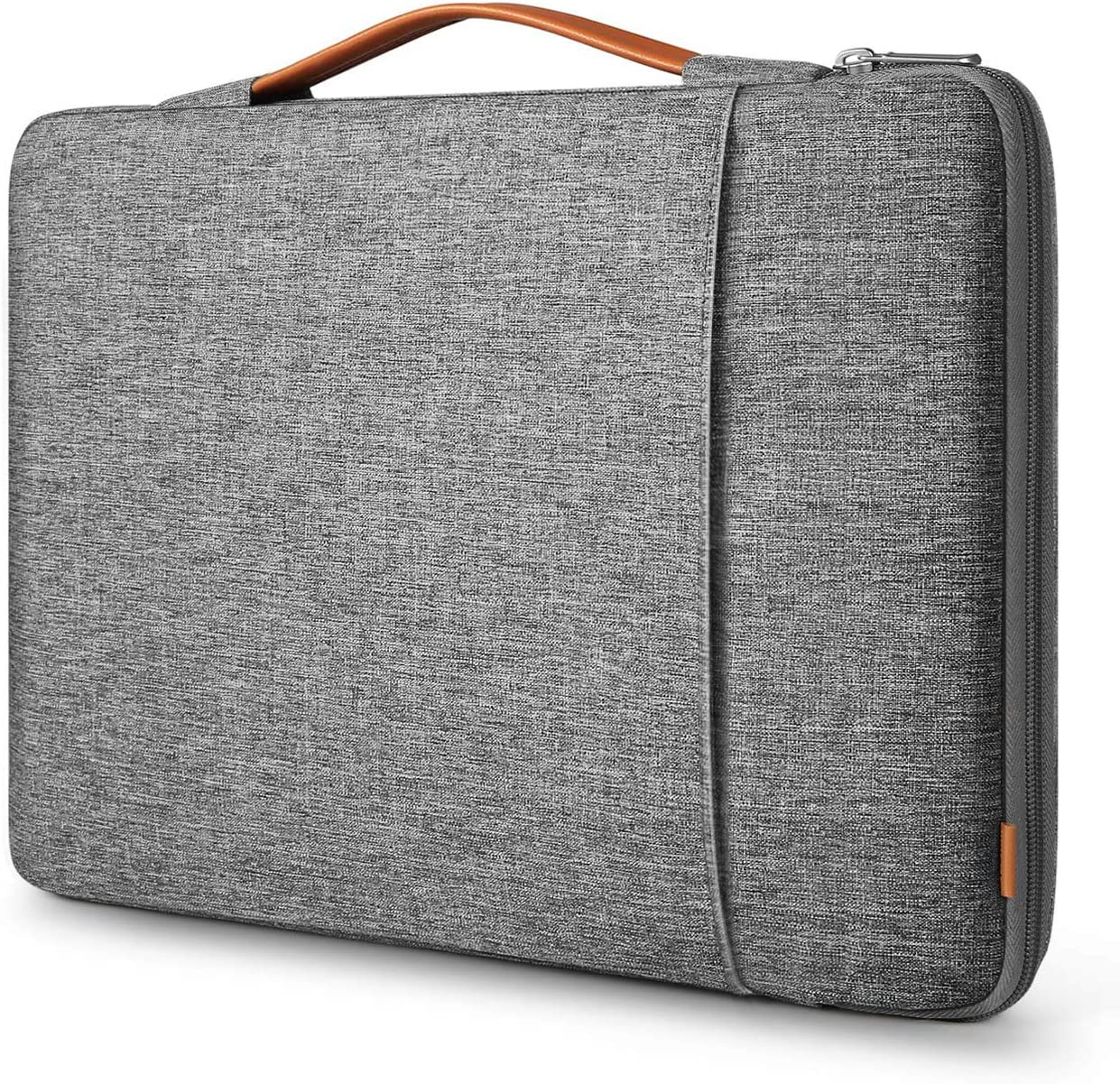 Inateck 15-15.6 Inch 360 Protection Shockproof Laptop Sleeve Carrying Case Bag Briefcase Compatible with 15.6 HP/Lenovo/Acer/ASUS/Dell Laptops Chromebooks Ultrabooks Netbooks Gray