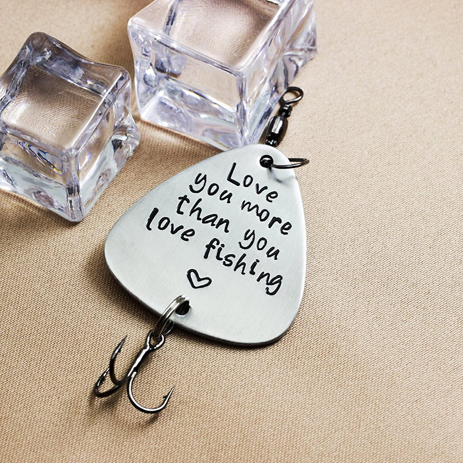 Amazon.com: Ms.Clover Love You More Than You Love Fishing Lure, Gift ...