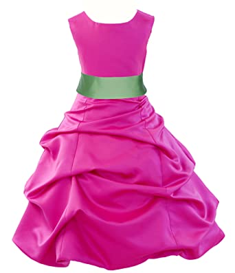 b1f26e7a325 ekidsbridal Wedding Pageant Fuchsia Hot Pink Flower Girl Dress Bridesmaid  806s 2