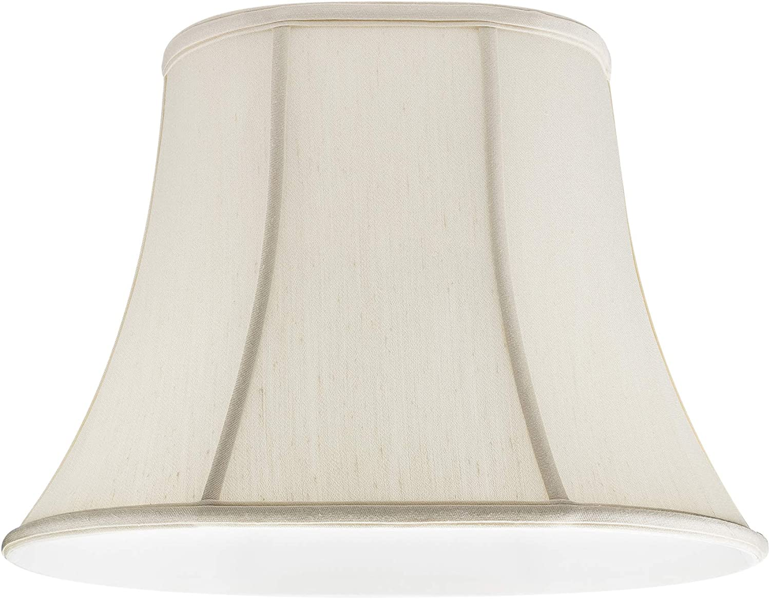 Upgradelights Off White Silk Shantung Oval Bell Lamp Shade