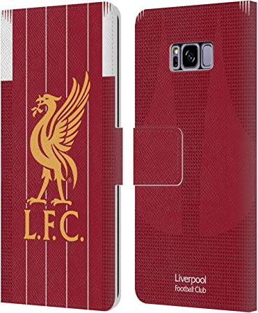 Official Liverpool Football Club Home Goalkeeper 2019//20 Kit PU Leather Book Wallet Case Cover Compatible For Samsung Galaxy S8