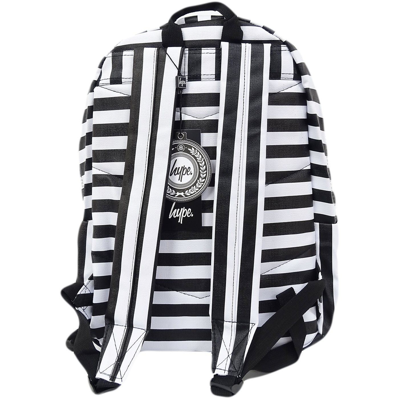 2ec4f592ce Hype Black   White Black And White Stripe Pu Bag - Humbug  Amazon.co.uk   Clothing