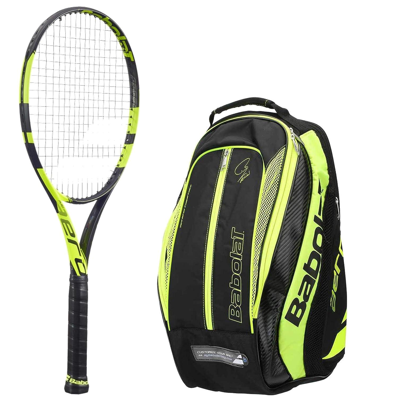 Babolat Pure Aero大人用テニスラケットPure Aeroバンドルテニスバックパック(イエロー/ブラック) B01LXGHU3M 3