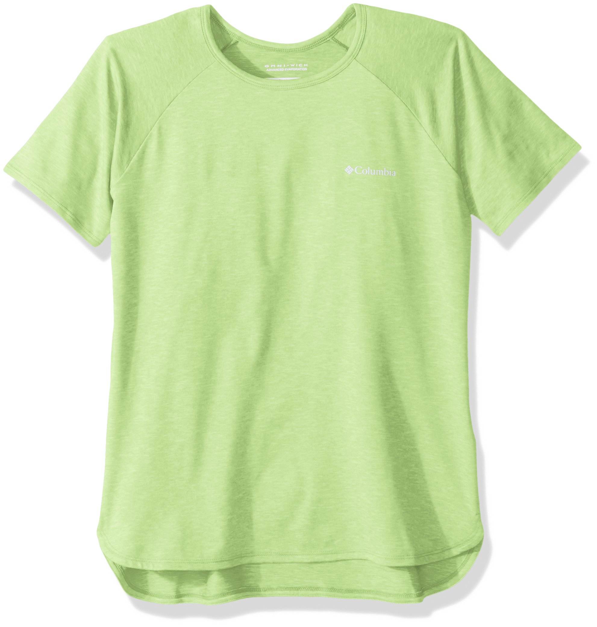 Columbia Girls Silver Ridge Ii Short Sleeve Tee, Jade Lime Heather, Small by Columbia