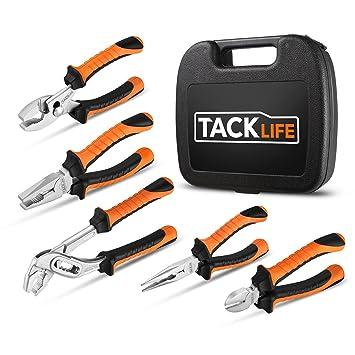 tacklife 5 piezas – Juego de alicates, hochverchromtes acabado y gran fuerza de afeitado,