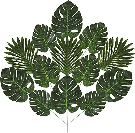 Amazon Com 48 Piece Artificial Palm Leaves 4 Types Tropical Leaves Faux Monstera Leaves Palm Tree Leaf Decorations For Safari Themed Parties Hawaiian Luau Parties Palm Sunday Kitchen Dining 24 types of tropical/leaves/doodles hey guyz it's harshad hope u like this video for more make sure to subscribe and hit the bell icon for more vector. amazon com