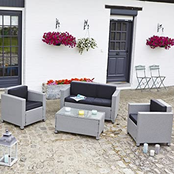 Beautiful Salon De Jardin Gris Et Noir Pictures - Amazing House ...
