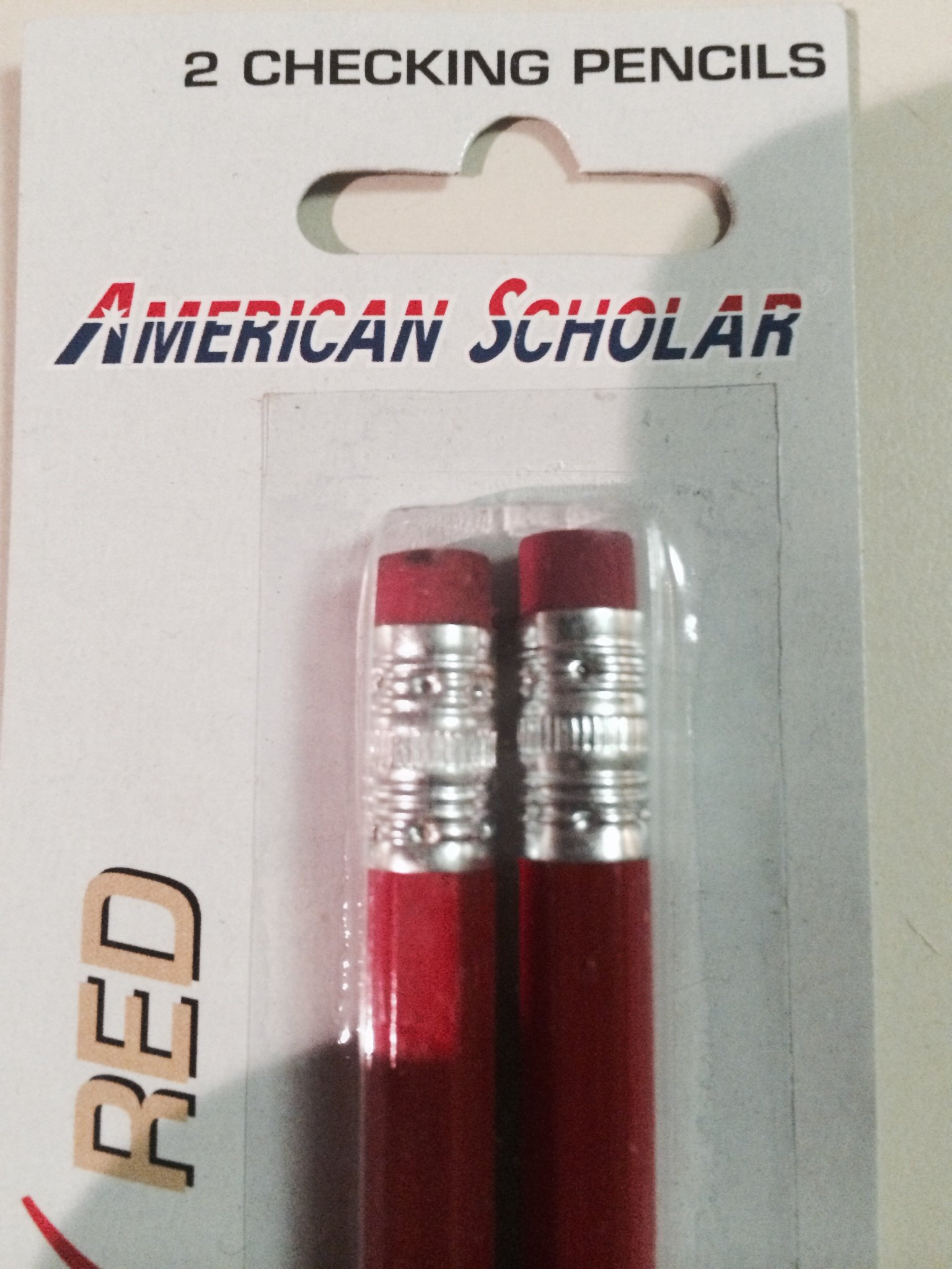 AMERICAN SCHOLAR CHECKING PENCIL WITH ERASER (RED) 48 PENCILS (24 PKX2) by American scholar (Image #4)