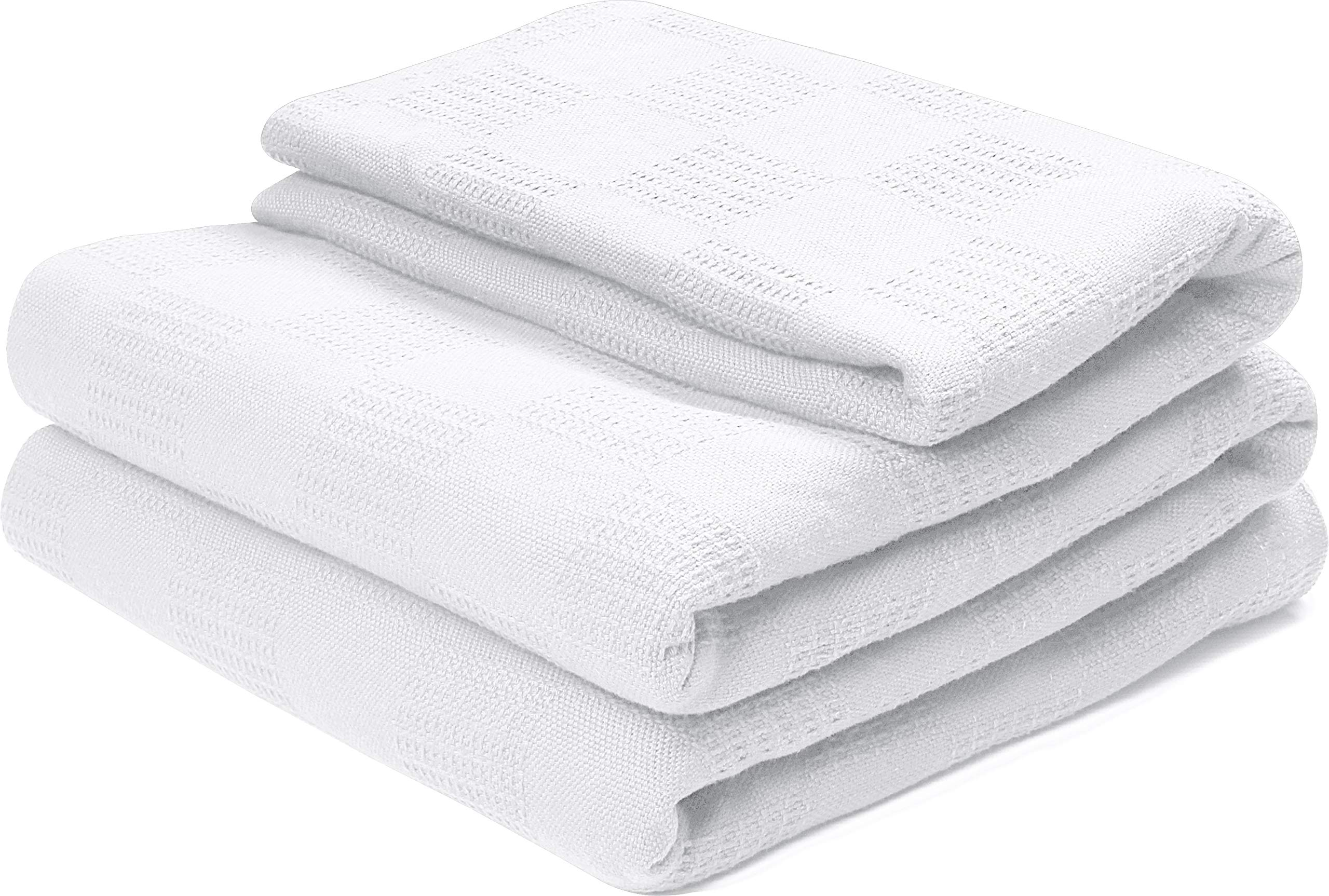 Utopia bedding 100% Premium Woven Cotton Blanket (King, White) Breathable Cotton Throw Blanket and Quilt for Bed & Couch/Sofa
