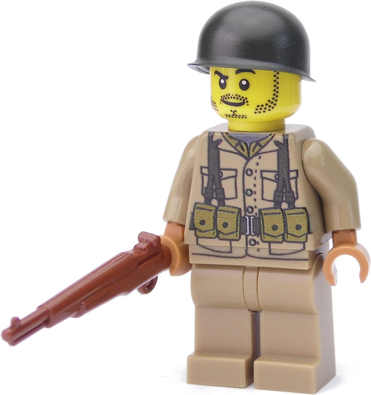 WW2 WWII Custom Soldado Americano con BrickArms M1 Garand, Estampada