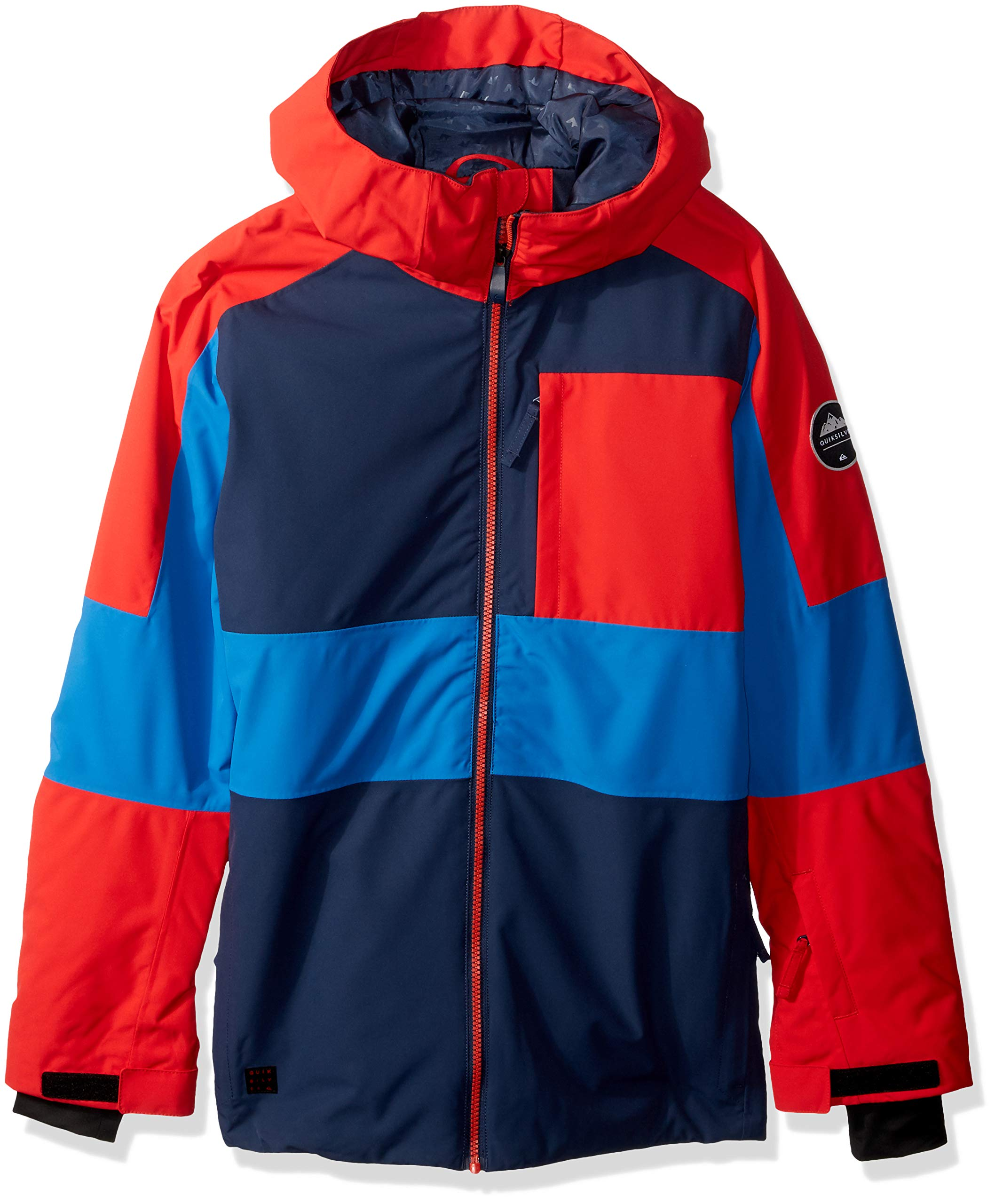 Quiksilver Boys' Big Sycamore Youth 10K Snow Jacket, Dress Blues, 12/L