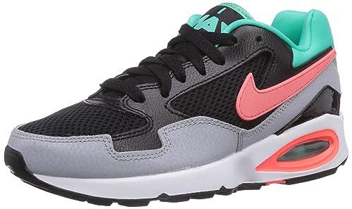 Nike Wmns Air MAX ST, Zapatillas de Deporte para Mujer, Negro (Black/Hot Lava-Menta-Wolf Grey), 36 EU: Amazon.es: Zapatos y complementos