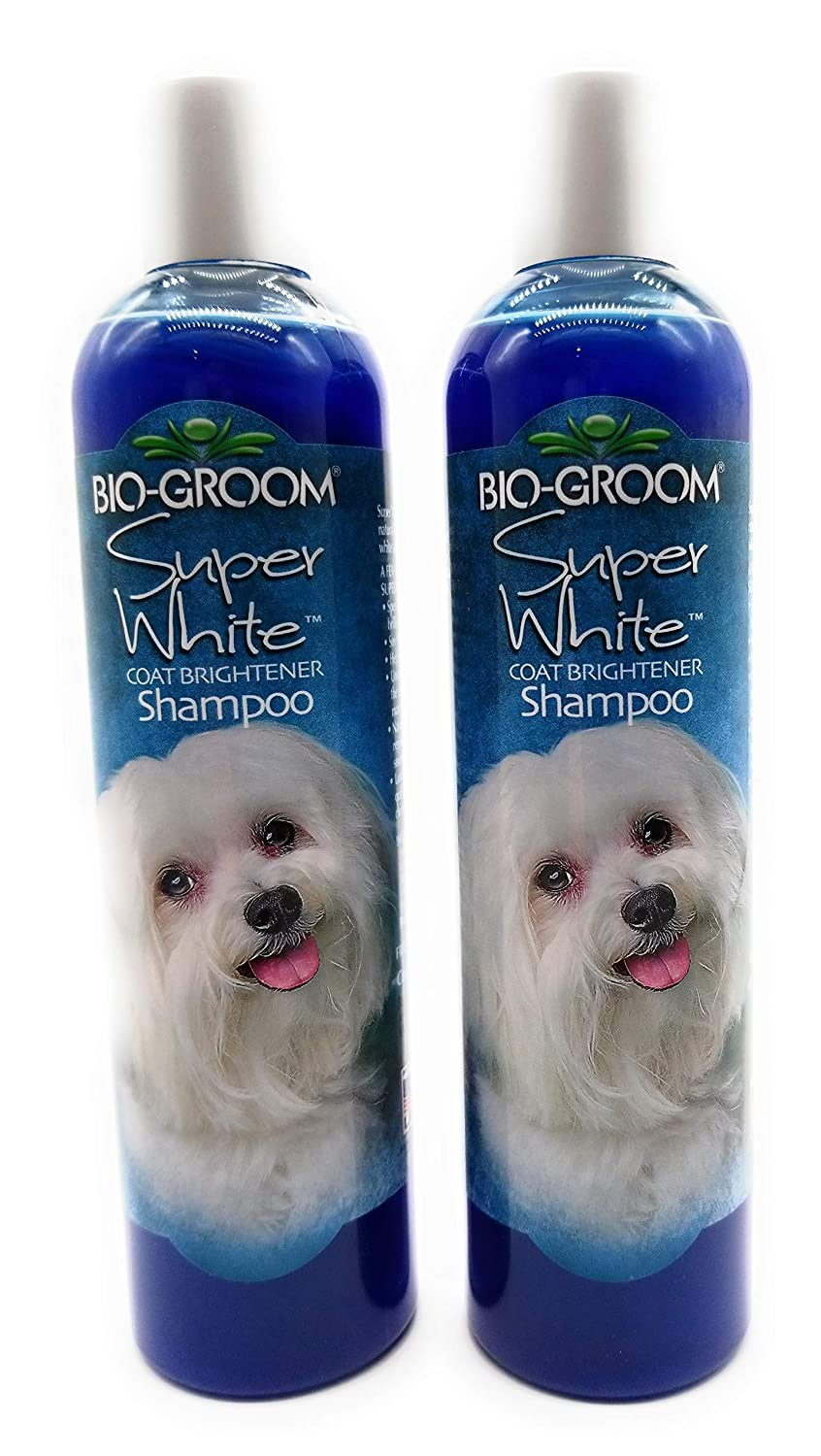 Bio-groom Super White Coat Brightener Pet Shampoo - 12Oz.(Pack of 2)