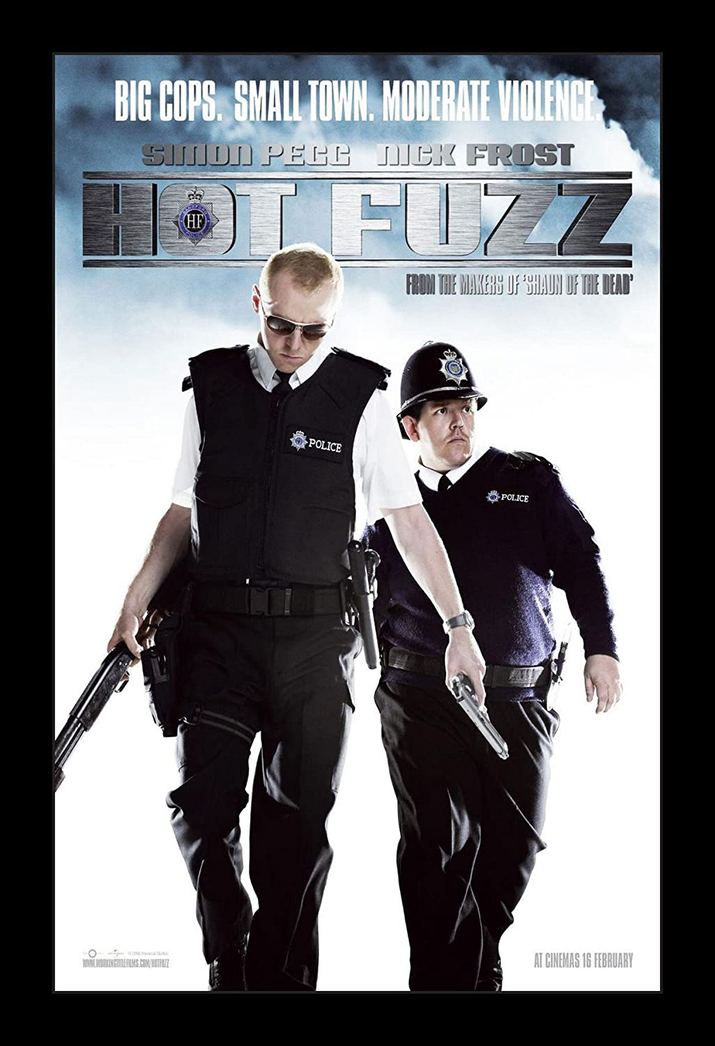 Hot Fuzz - 11x17 Framed Movie Poster by Wallspace