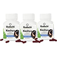Keshya (HAIR TONIC) 60 CAPSULES provides vital nutrients for hair (Pack of 3)