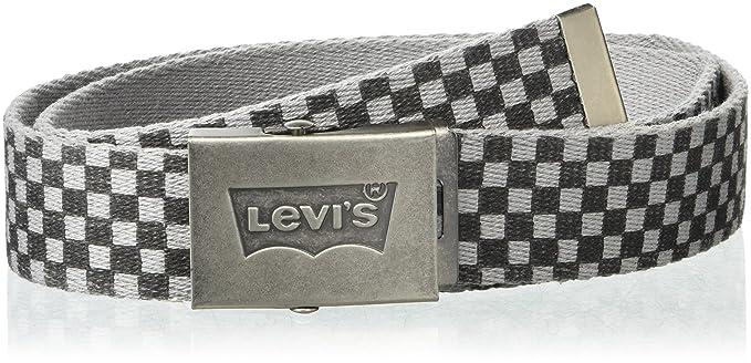 mejores zapatillas de deporte e9029 b9464 Levi's Hombre 11LV02AP Cinturón - Gris - talla única: Amazon ...
