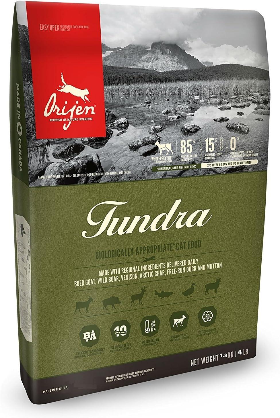Orijen Biologically Appropriate Cat Food, Tundra, 4 Pounds