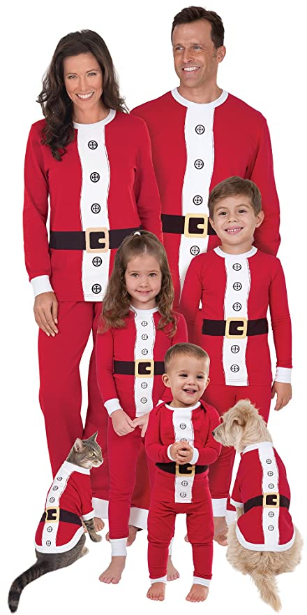 Santa Suit Matching Family Christmas Pajama Sets