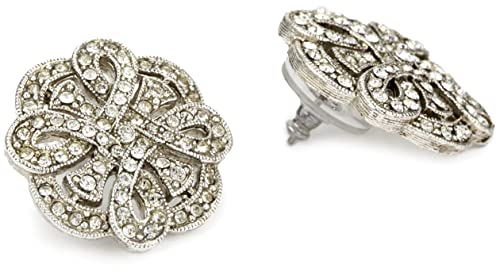 1928 Bridal Art Deco Revival Eternal Earrings