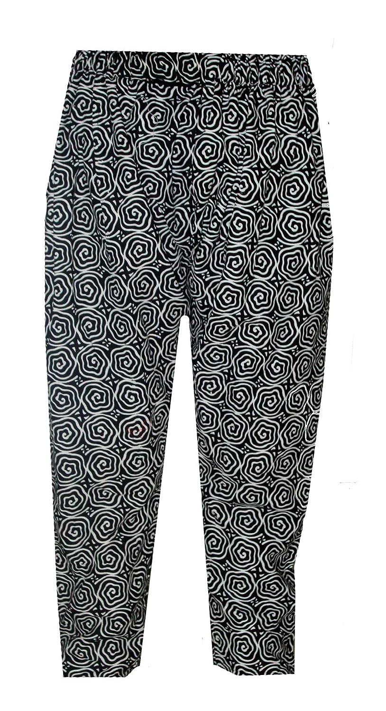 85d1a6a59aeb 100% Cotton Men s Pajama Indian Loose Fit Pant Yoga Baggie Trouser Black  Color Floral Print