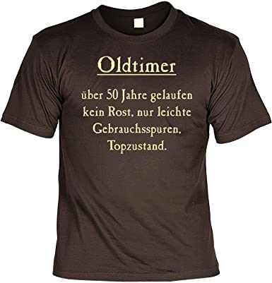 Geburtstag Sprüche Tshirt Oldtimer über 50 Jahre Gelaufen Kein Rost