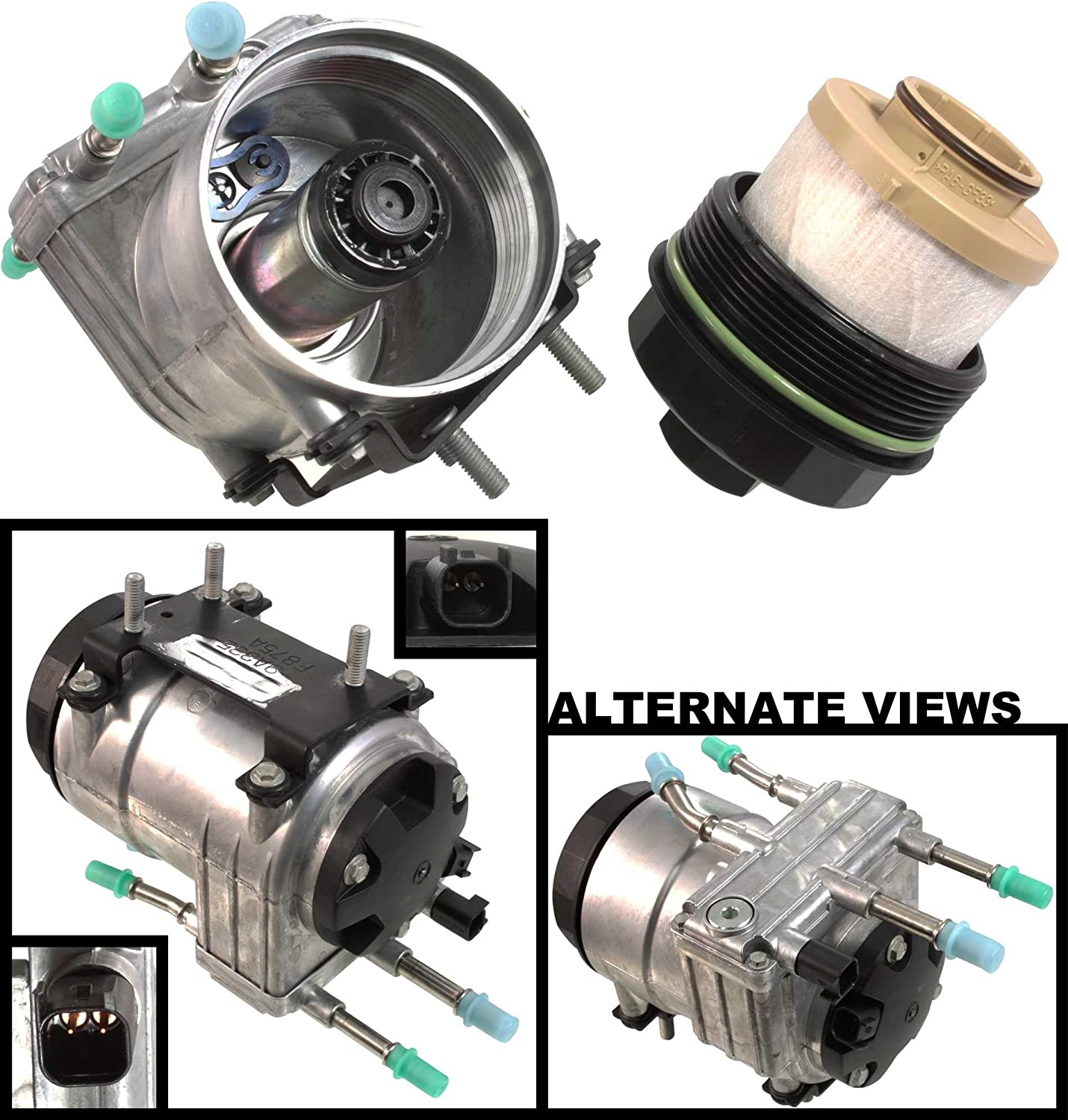 Amazon.com: APDTY 112774 Fuel Filter Conditioning Complete Housing Module  (Horizontal Frame Mounted) Fits 2003-2007 Ford 6.0L Diesel Trucks (Replaces  Ford 6C3Z-9G282-C, 6C3Z9G282C, PFB101): Automotive | Ford F 350 Fuel Filter |  | Amazon.com