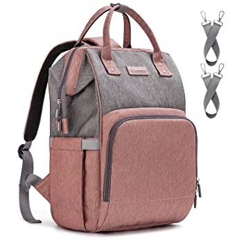 81529a544778 Amazon.com   Diaper Bag Backpack Nappy Bag Upsimples Baby Bags for Mom  Maternity Diaper Bag with USB Charging Port Stroller Straps Thermal Pockets
