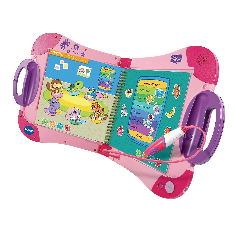 VTech - Sistema de Aprendizaje Interactivo, MagiBook, Color Rosa, versión española (80-602157): Amazon.es: Juguetes y juegos