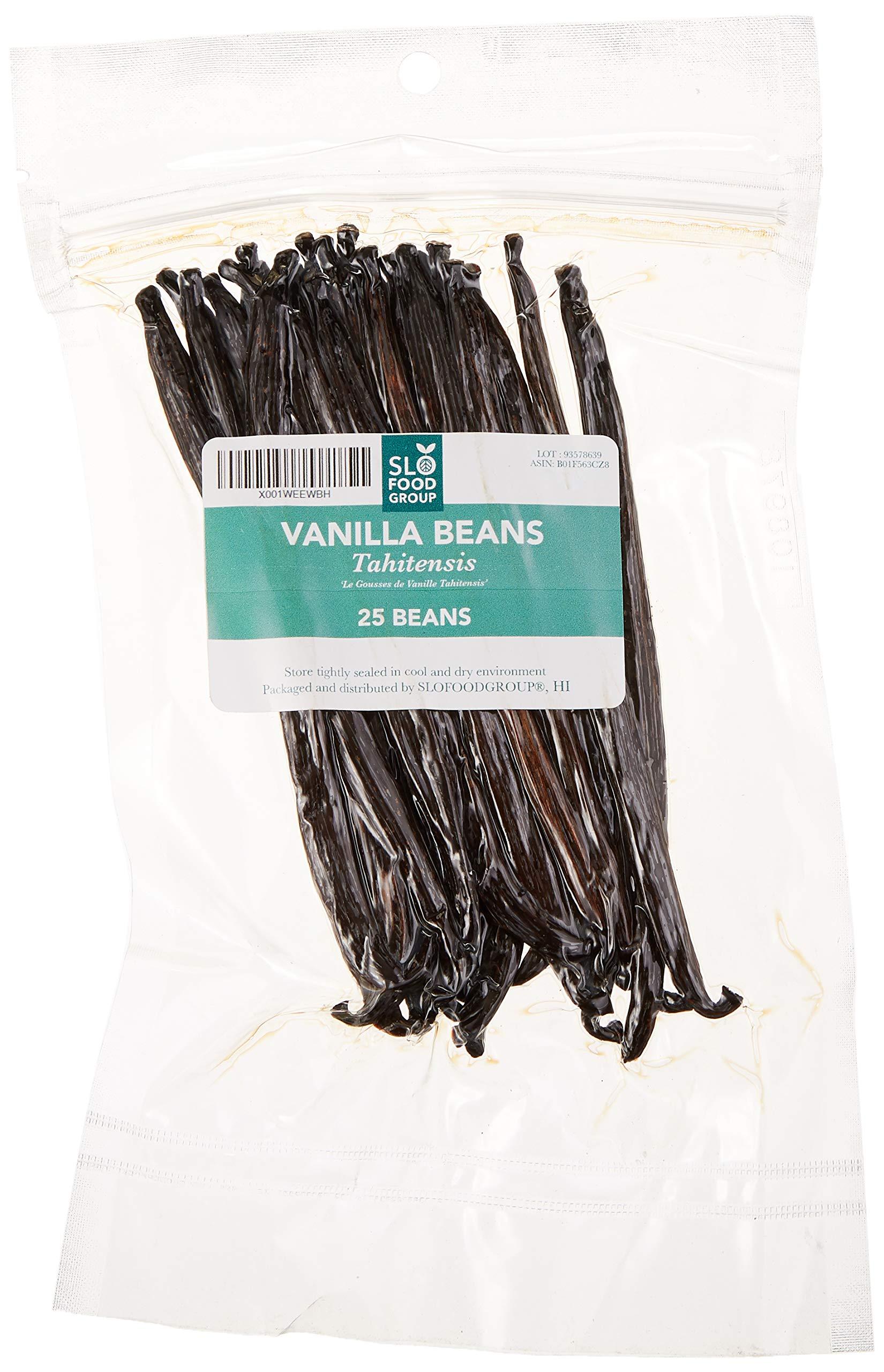 Vanilla Beans Tahitian Vanilla by Slofoodgroup Vanilla Tahitensis Premium Quality Vanilla Beans (25 ea Tahitian Vanilla beans )