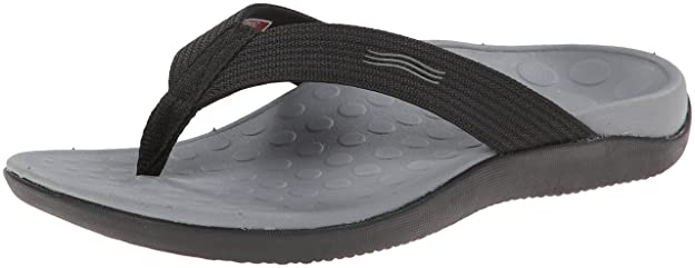 Vionic Unisex Wave Toe Post Sandal, 8 B(M) US Women / 7 D(M) US Men, (Black) best plantar fasciitis remedies