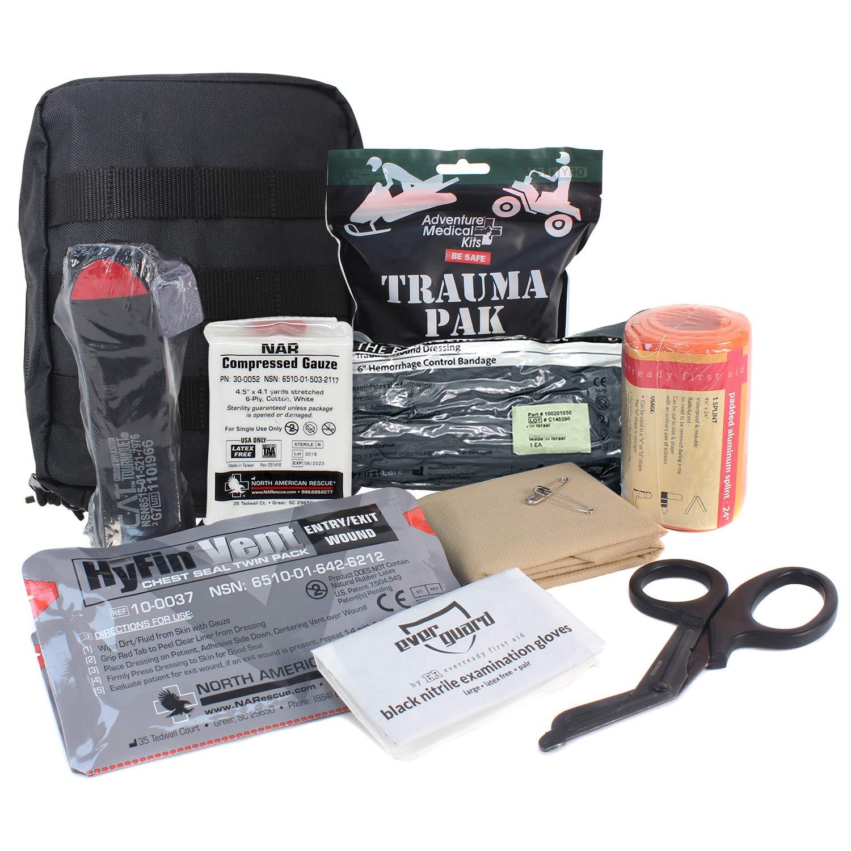 MediTac Premium IFAK Kit - Feat. Trauma Pak, CAT Tourniquet, HyFin Vent Chest Seal, Israeli Bandage by MediTac