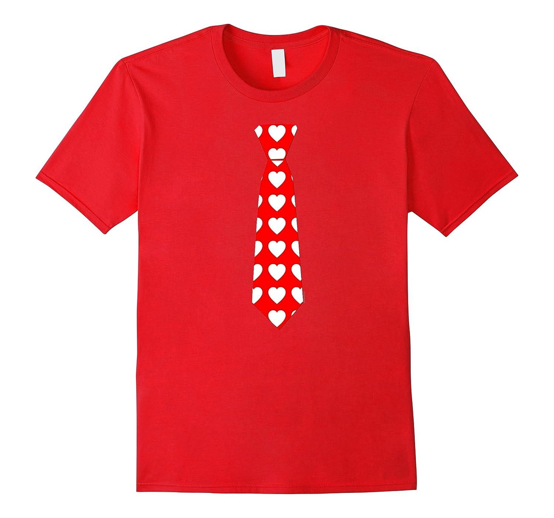 Hearts Necktie Valentine T-shirt by Scarebaby-TD