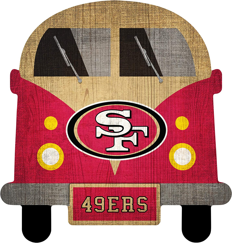 NFL San Francisco 49ers Unisex San Francisco 49ers Team Bus Sign, Team Color, 12 inch