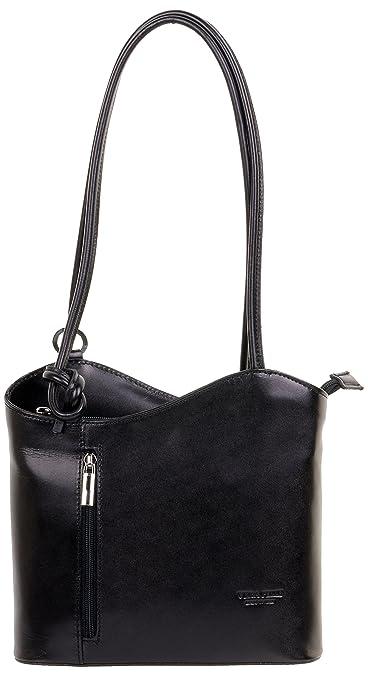 8b0479f8dd1f Primo Sacchi® Ladies Italian Leather Hand Made Black Handbag