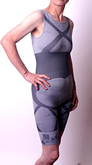 5543b840e Amazon.com  Natural Bamboo Charcoal Body Shaper Underwear Slim Slimming Suit  Bodysuits  Clothing